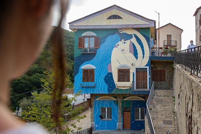 Nian - murale a Gorgoglione (MT), ARTE CON E PER LE DONNE, AppARTEngo Festival 2021