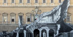 JR - Punto di fuga, Palazzo Farnese, Roma
