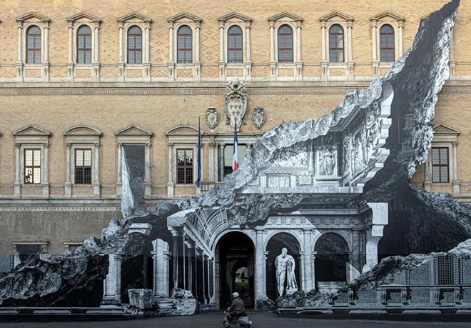 JR – Punto di fuga, Palazzo Farnese