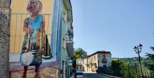Cvtà Street Fest 2021 - Civitacampomarano: murale di Cristian Blanxer