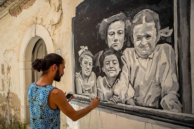 Cvtà Street Fest 2021 - Civitacampomarano: murale di Victor Garcia Repo