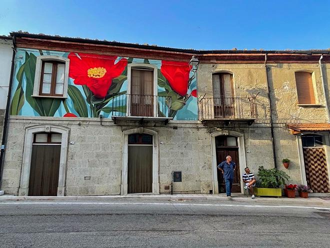 Cvtà Street Fest 2021 - Civitacampomarano: murale di Thiago Mazza