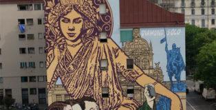 Solo e Diamond - Czech The Wall, murale al Giardino delle Culture, Milano, 2021