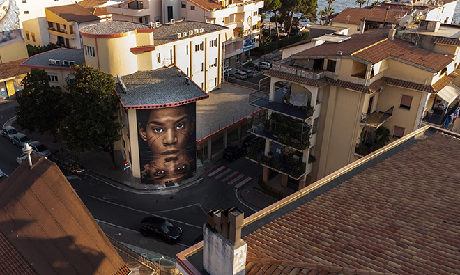 Jorit - Jean-Michel Basquiat, Diamante Murales 40, Diamante (CS), 2021