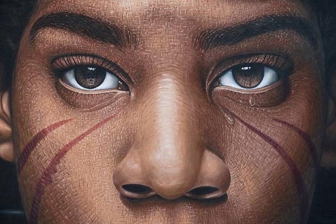 Jorit - Jean-Michel Basquiat, Diamante Murales 40, Diamante (CS), 2021. photo credit: Iacopo Munno
