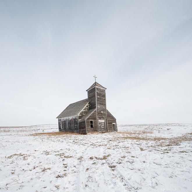 Sandra Herber - North Dakota Winter, First place Architecture category, Minimalist Photography Awards