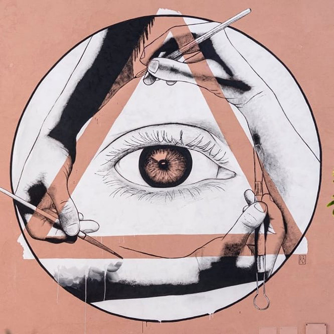 Riccardo Buonafede - La Loggia degli Artisti, Diamante Murales 40, Diamante (CS), 2021
