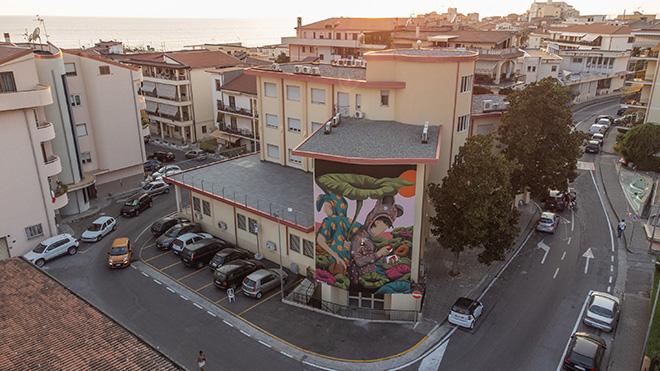 Tony Gallo - Diamante, Murales. photo credit: Iacopo Munno