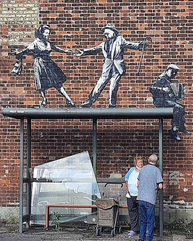 Banksy - Stencil, Admiralty Road, Great Yarmouth, UK