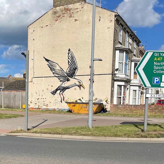Banksy - Stencil, Gorleston, UK