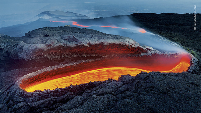 © Luciano Gaudenzio - Wildlife Photographer of the Year. Title: Etna's river of fire. Winner: Earth's Environments. Wildlife Photographer of the Year is developed and produced by the Natural History Museum, London.