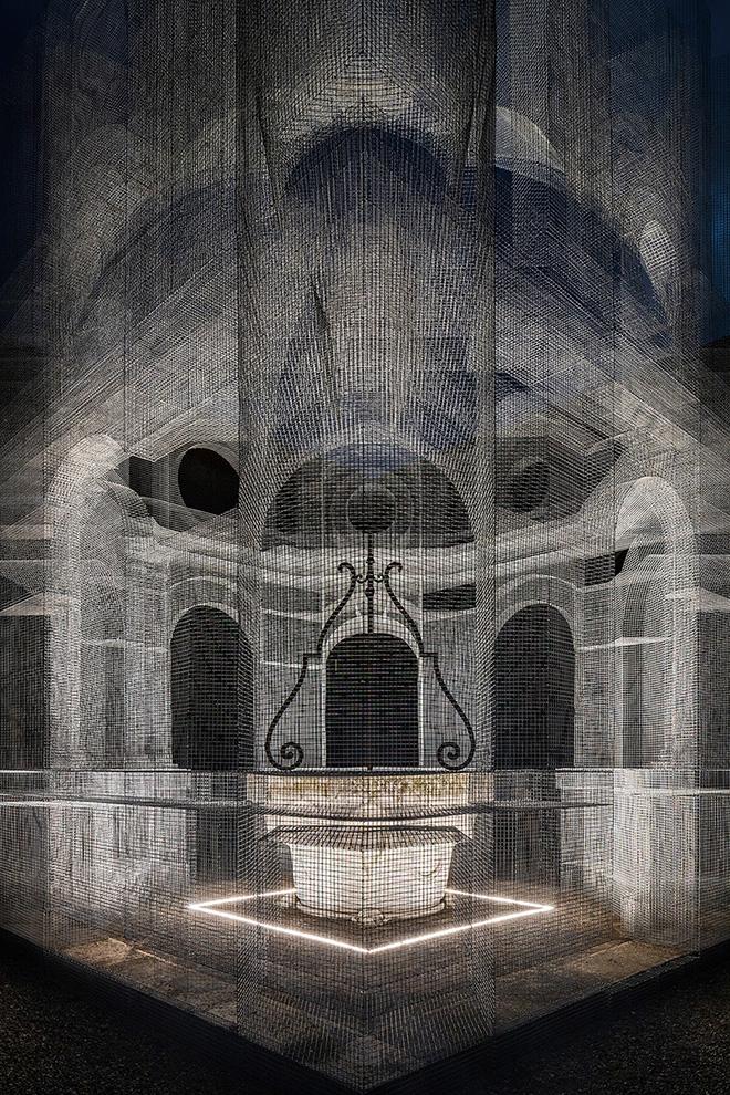 Edoardo Tresoldi - Sacral, installazione, Mar Museo d'Arte della città di Ravenna. photo credit: © Roberto Conte
