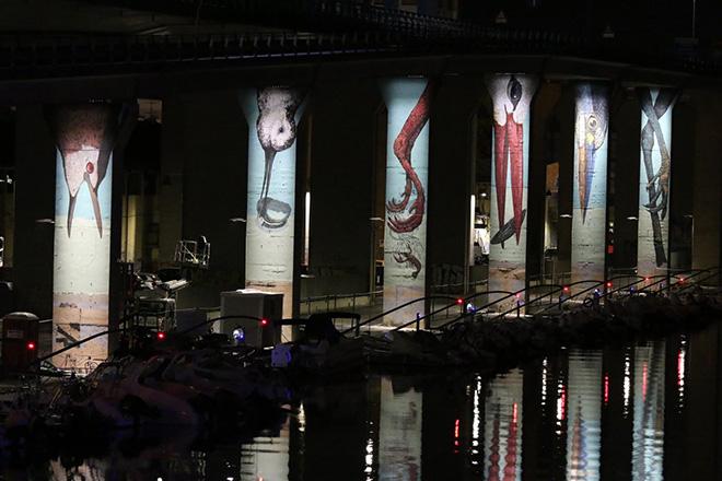 Ericailcane e Bastardilla - Murales sui piloni dell'asse attrezzato compreso tra il ponte Risorgimento e il ponte D'Annunzio, Pescara, MURAP Festival, 2021