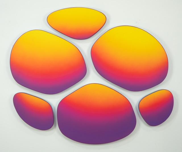 Jan Kaláb - Cadmium Puddle 821, 110x125. MAGMA gallery