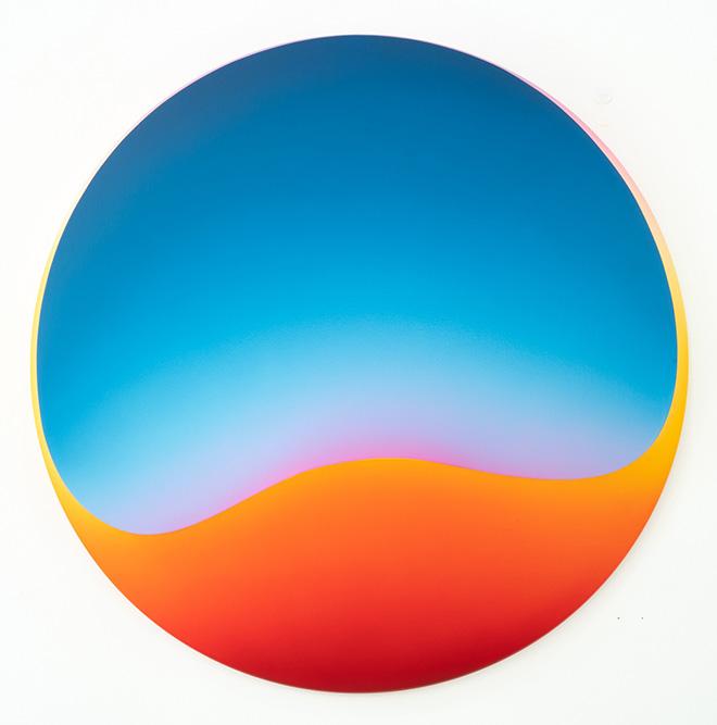 Jan Kaláb - Melted Dusk 821, 100x100x20, MAGMA gallery