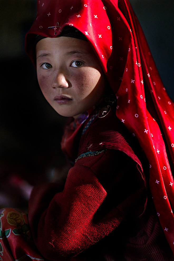 Nicola Ducati (Italy) - Title: Red Girl With Turban. Series: My Red Pamir. AAP Magazine #20 TRAVELS
