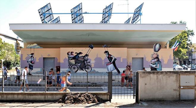 Alessandra Carloni - San Donato, Pescara, murale sulla parete lato mare del Centro Polivalente Britti, MURAP Festival, 2021