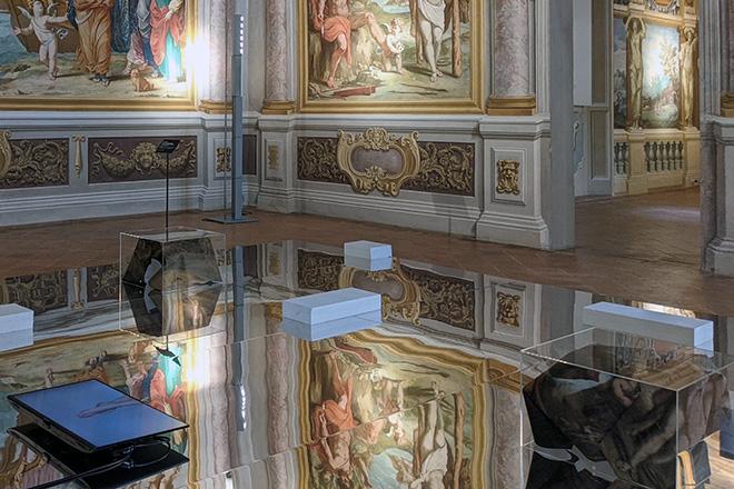 Mustafa Sabbagh, Spazio Disponibile: prodotto non soggetto a data di scadenza - Palazzo Ducale di Sassuolo, 2021. installazione site-specific (mixed media, dimensioni ambientali) courtesy: l'artista, Gallerie Estensi