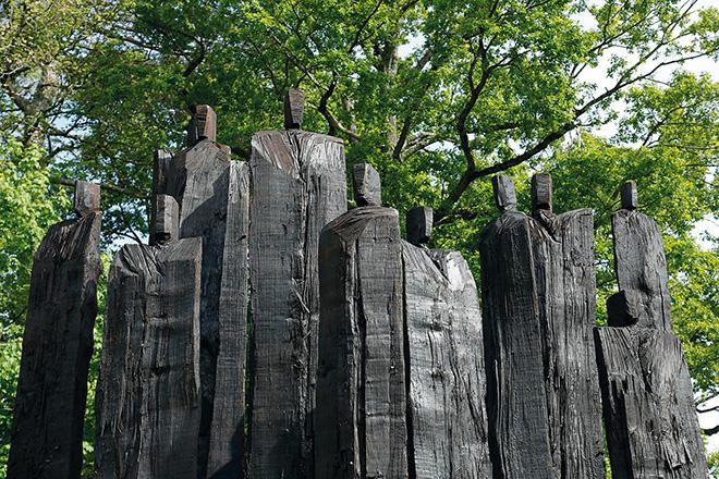 Christian Lapie – Installazione al Treeart Festival