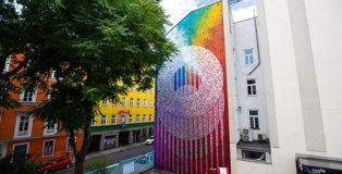 Said Dokins - Eclipse. Stories of a Word Series. 2021. Apollogase # 20 Vienna, Austria. @saidokins, Photo: Tim König Calle Libre Festival