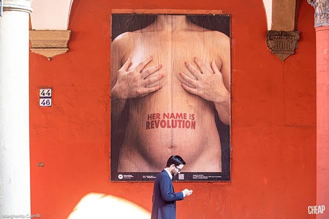 CHEAP - Her name is Revolution, poster art, Bologna. photo credit: Margherita Caprilli