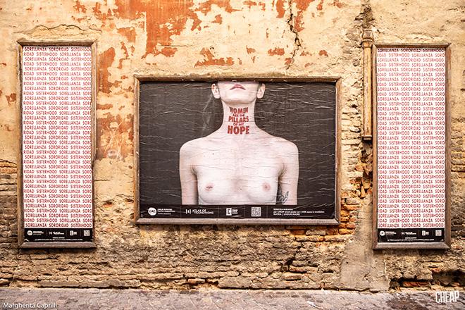CHEAP - Women are the pillars of my hope, poster art, Bologna. photo credit: Margherita Caprilli