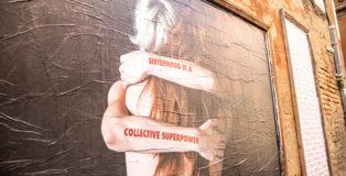CHEAP - Sisterhood is a collective superpower, poster art, Bologna. photo credit: Margherita Caprilli