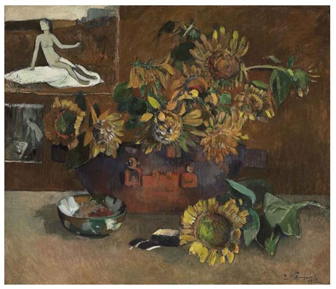 Paul Gauguin (Parigi 1848 – Hiva Oa 1903) Natura morta davanti a L'Espérance, 1901 Olio su tela, Collezione privata friulana