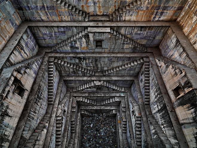 Step-well #4, Sagar Kund Baori, Bundi, Rajasthan, India. Photo by Edward Burtynsky.