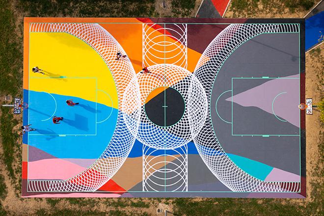 Moneyless - Arte urbana al parco di via Palarciano a Oste