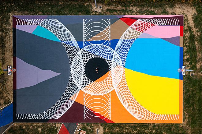 Moneyless – Arte urbana al parco di via Palarciano a Oste