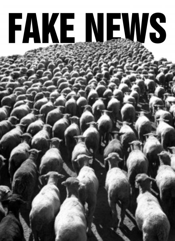 Tomaso Marcolla - Sheep, 100 posters to fight fake news - Poster for tomorrow